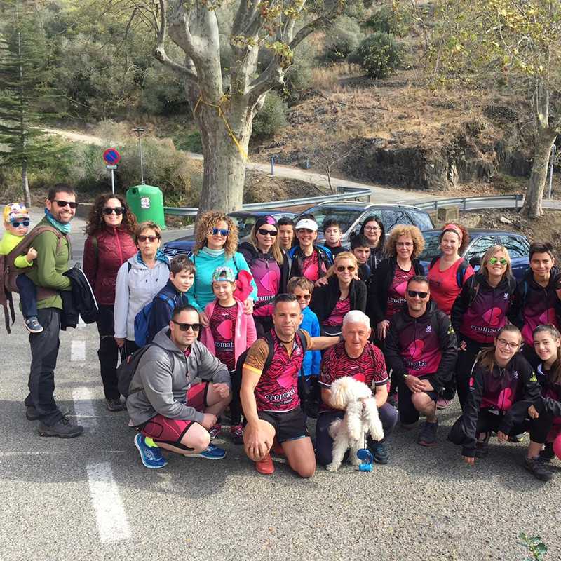 Participamos en una jornada de senderismo organizada por la Asociación Deportiva Cromátic Sport