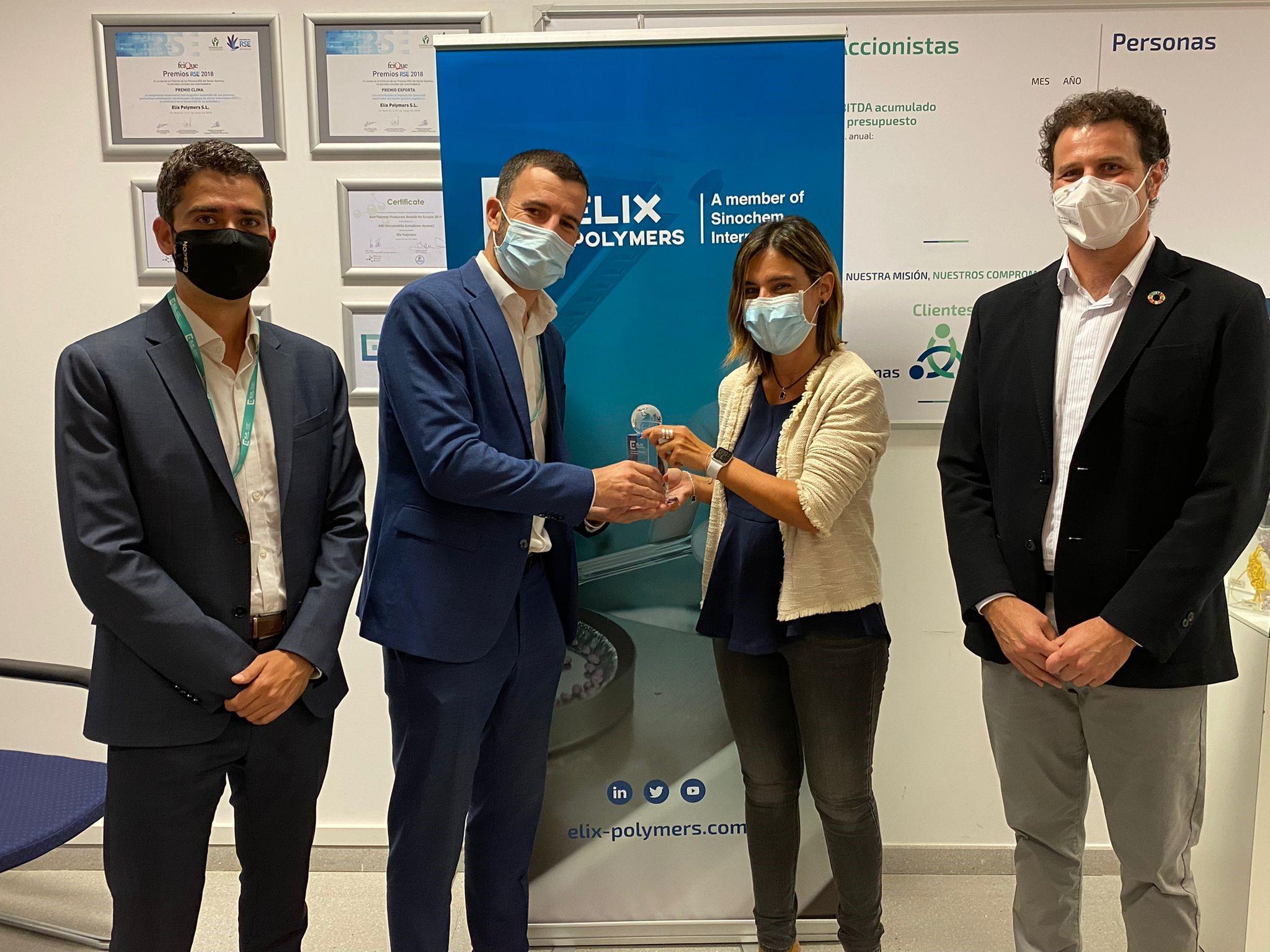 """ELIX Polymers premio """"Mejor Proveedor del año 2020"""" Bros Group"""