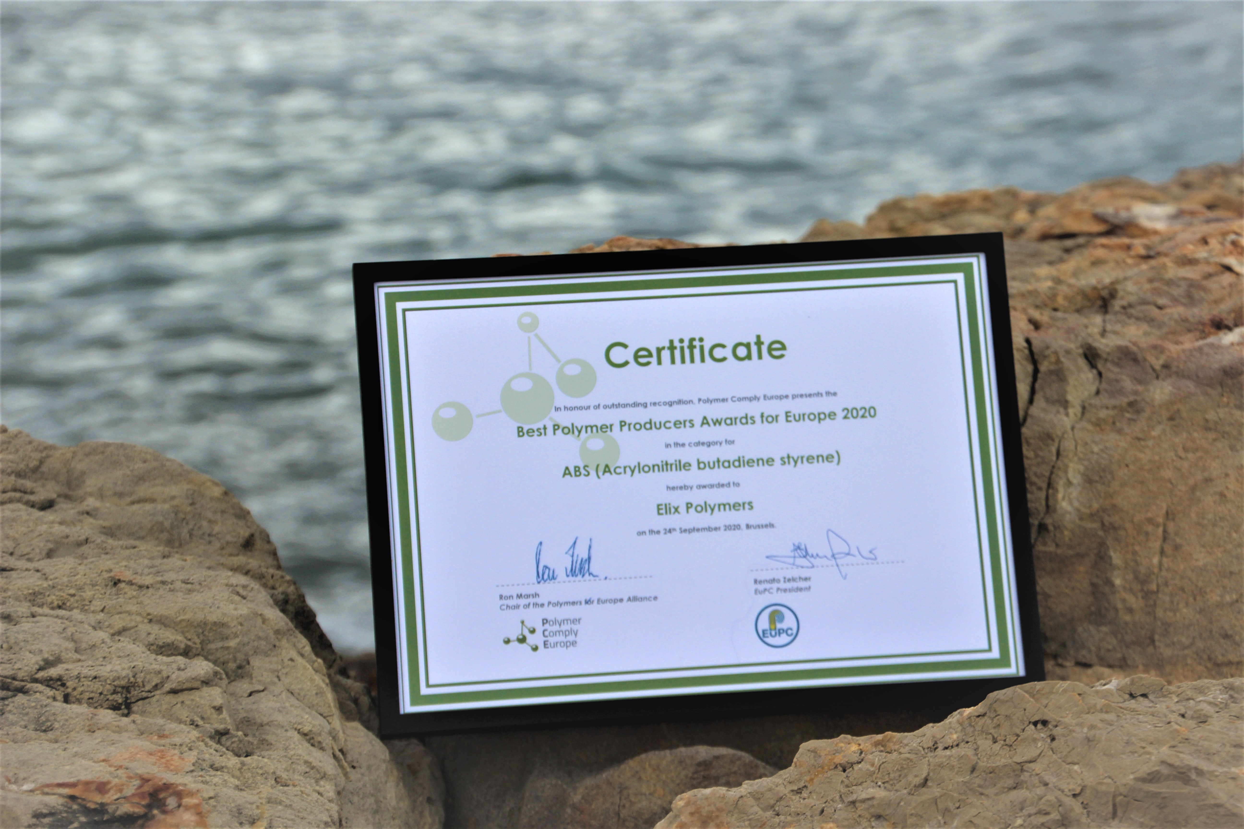 Premio al Mejor Fabricante Europeo de Polímeros 2020