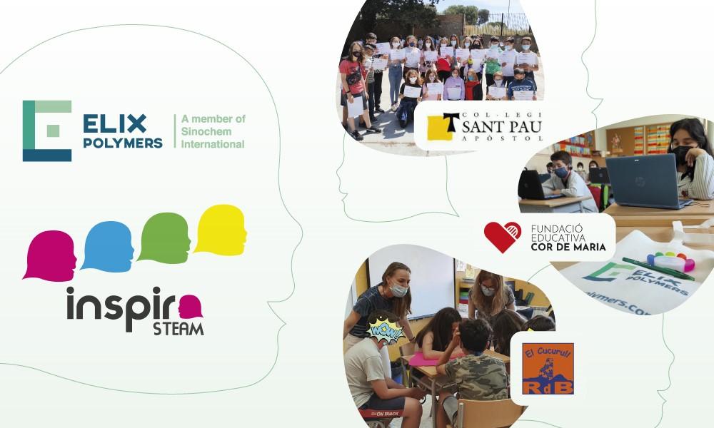ELIX Polymers participa proyecto Inspira STEAM fomentar vocación científico-tecnológica chicas